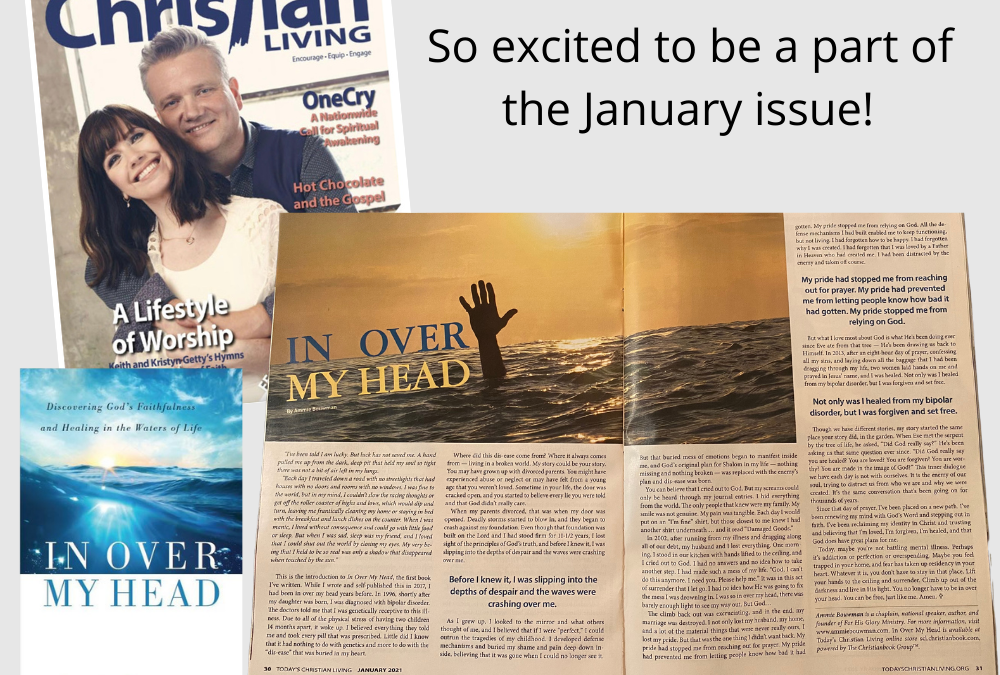 "Featured this month – ""In Over My Head"""