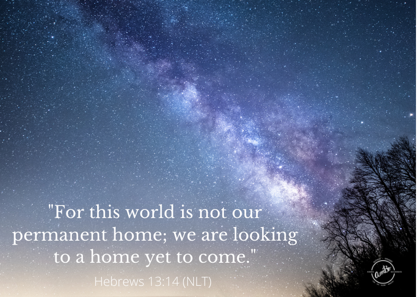 Not our permanent home…