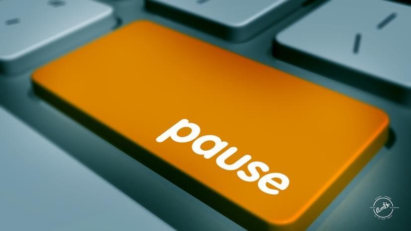 Don't forget to pause.